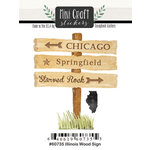 Scrapbook Customs - Cardstock Stickers - Mini Craft - Illinois Wood Sign