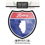 Scrapbook Customs - Cardstock Stickers - Mini Craft - Illinois Sign