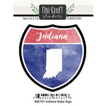 Scrapbook Customs - Cardstock Stickers - Mini Craft - Indiana Sign
