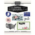 Scrapbook Customs - Cardstock Stickers - Indiana Watercolor
