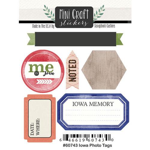 Scrapbook Customs - Cardstock Stickers - Mini Craft - Iowa Photo Tags