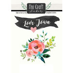 Scrapbook Customs - Cardstock Stickers - Mini Craft - Iowa Love