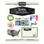Scrapbook Customs - Cardstock Stickers - Iowa Watercolor