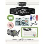 Scrapbook Customs - Cardstock Stickers - Iowa Watercolor