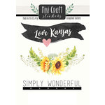 Scrapbook Customs - Cardstock Stickers - Mini Craft - Kansas Love