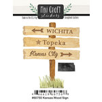 Scrapbook Customs - Cardstock Stickers - Mini Craft - Kansas Wood Sign
