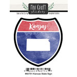 Scrapbook Customs - Cardstock Stickers - Mini Craft - Kansas Sign