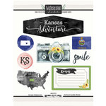 Scrapbook Customs - Cardstock Stickers - Kansas Watercolor