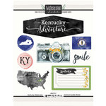Scrapbook Customs - Cardstock Stickers - Kentucky Watercolor