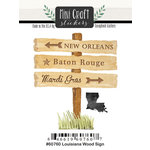 Scrapbook Customs - Cardstock Stickers - Mini Craft - Louisiana Wood Sign