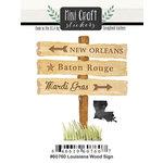 Scrapbook Customs - Cardstock Stickers - Mini Craft - Louisiana Wood Sign