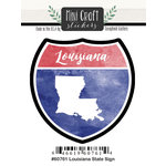 Scrapbook Customs - Cardstock Stickers - Mini Craft - Louisiana Sign