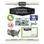 Scrapbook Customs - Cardstock Stickers - Louisiana Watercolor