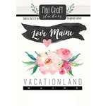 Scrapbook Customs - Cardstock Stickers - Mini Craft - Maine Love