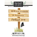Scrapbook Customs - Cardstock Stickers - Mini Craft - Maine Wood Sign