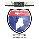 Scrapbook Customs - Cardstock Stickers - Mini Craft - Maine Sign