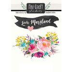 Scrapbook Customs - Cardstock Stickers - Mini Craft - Maryland Love