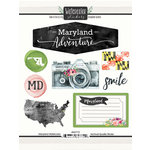 Scrapbook Customs - Cardstock Stickers - Maryland Watercolor