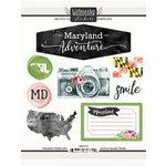 Scrapbook Customs - Cardstock Stickers - Maryland Watercolor