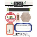 Scrapbook Customs - Cardstock Stickers - Mini Craft - Massachusetts Photo Tags