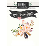 Scrapbook Customs - Cardstock Stickers - Mini Craft - Massachusetts Love