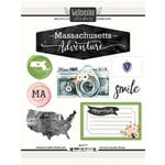 Scrapbook Customs - Cardstock Stickers - Massachusetts Watercolor