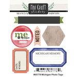 Scrapbook Customs - Cardstock Stickers - Mini Craft - Michigan Photo Tags