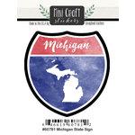 Scrapbook Customs - Cardstock Stickers - Mini Craft - Michigan Sign