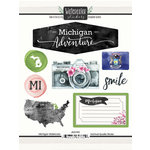 Scrapbook Customs - Cardstock Stickers - Michigan Watercolor