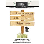 Scrapbook Customs - Cardstock Stickers - Mini Craft - Minnesota Wood Sign