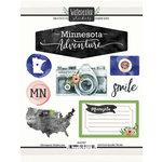 Scrapbook Customs - Cardstock Stickers - Minnesota Watercolor