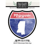 Scrapbook Customs - Cardstock Stickers - Mini Craft - Mississippi Sign