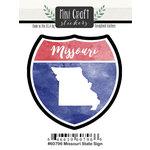 Scrapbook Customs - Cardstock Stickers - Mini Craft - Missouri Sign