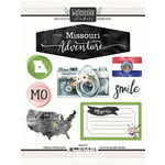 Scrapbook Customs - Cardstock Stickers - Missouri Watercolor