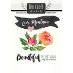 Scrapbook Customs - Cardstock Stickers - Mini Craft - Montana Love