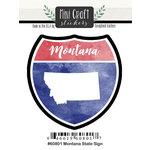 Scrapbook Customs - Cardstock Stickers - Mini Craft - Montana Sign