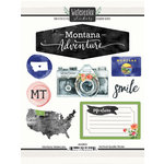 Scrapbook Customs - Cardstock Stickers - Montana Watercolor