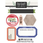 Scrapbook Customs - Cardstock Stickers - Mini Craft - Nebraska Photo Tags
