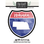 Scrapbook Customs - Cardstock Stickers - Mini Craft - Nebraska Sign