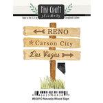 Scrapbook Customs - Cardstock Stickers - Mini Craft - Nevada Wood Sign
