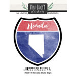 Scrapbook Customs - Cardstock Stickers - Mini Craft - Nevada Sign