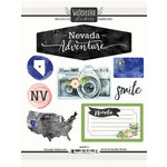 Scrapbook Customs - Cardstock Stickers - Nevada Watercolor