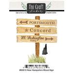 Scrapbook Customs - Cardstock Stickers - Mini Craft - New Hampshire Wood Sign