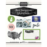 Scrapbook Customs - Cardstock Stickers - New Hampshire Watercolor