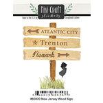Scrapbook Customs - Cardstock Stickers - Mini Craft - New Jersey Wood Sign