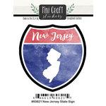 Scrapbook Customs - Cardstock Stickers - Mini Craft - New Jersey Sign