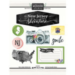 Scrapbook Customs - Cardstock Stickers - New Jersey Watercolor