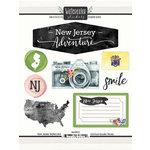 Scrapbook Customs - Cardstock Stickers - New Jersey Watercolor