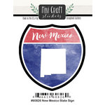 Scrapbook Customs - Cardstock Stickers - Mini Craft - New Mexico Sign