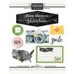 Scrapbook Customs - Cardstock Stickers - New Mexico Watercolor